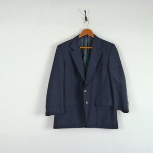 Vintage Burberry Windowpane Blazer